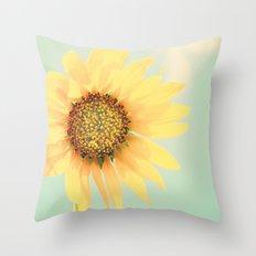 Sunflower Power Pop! Throw Pillow