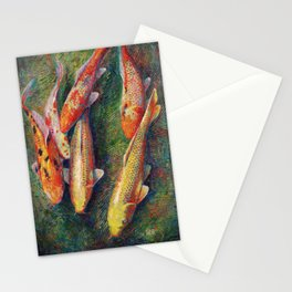Volunteer Park Koi #4 Stationery Cards