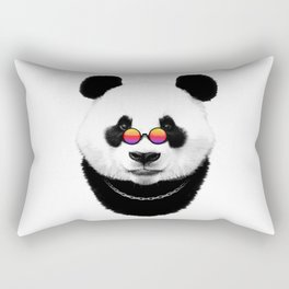 Hipster panda Rectangular Pillow