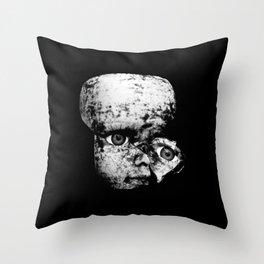 Blood Doll Face III Throw Pillow