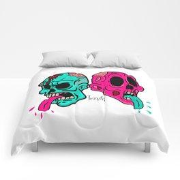 tongues & skulls Comforters