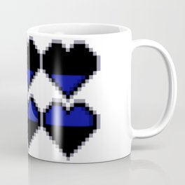 Blue Lives Matter Pixel Hearts Coffee Mug