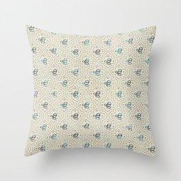 Gold and Abalone Ek Onkar / Ik Onkar pattern Throw Pillow