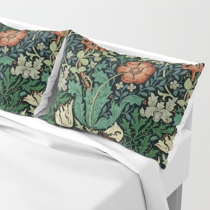 William Morris Compton Floral Art Nouveau Pattern Kissenbezug