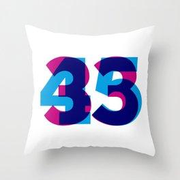33/45 Throw Pillow