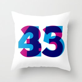 33/45 Throw Pillow