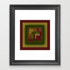 Yellow Color Geometry Framed Art Print