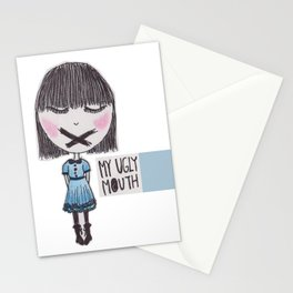 My Ugly Mouth Stationery Cards