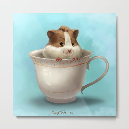 hamster in the cup Metal Print
