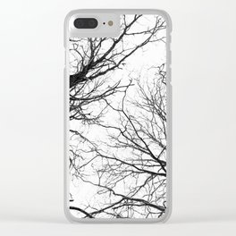 Tree Branches In Winter Clear iPhone Case