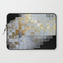 Squares in Gold and Silver Laptop Sleeve