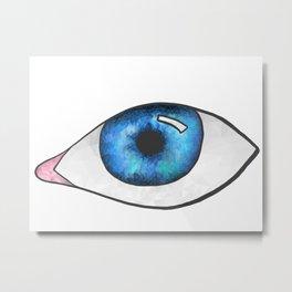 Geometric Eye w/out Spalsh Metal Print