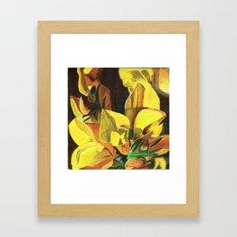 Golden Gorse Flowers Framed Art Print
