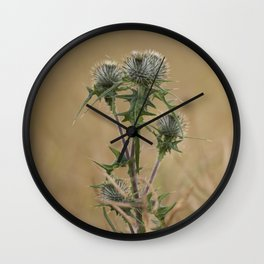 Spear Thistle Wall Clock