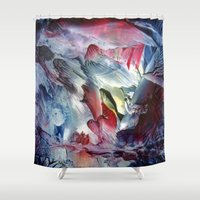 angel Shower Curtains featuring Angel  by ART de Luna