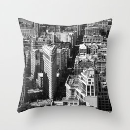 Aerial view of New York from Empire State Building Throw Pillow