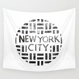 new york city typography illustration Wall Tapestry