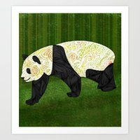panda Art Prints featuring Panda by Ben Geiger