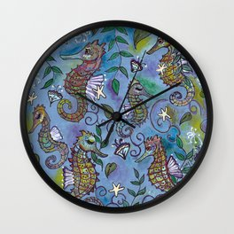 Oh, the Quiet Beauty of the Seahorse Wall Clock