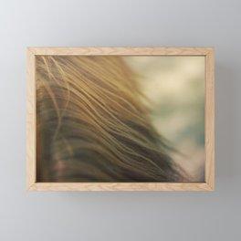 Gold Mane Framed Mini Art Print