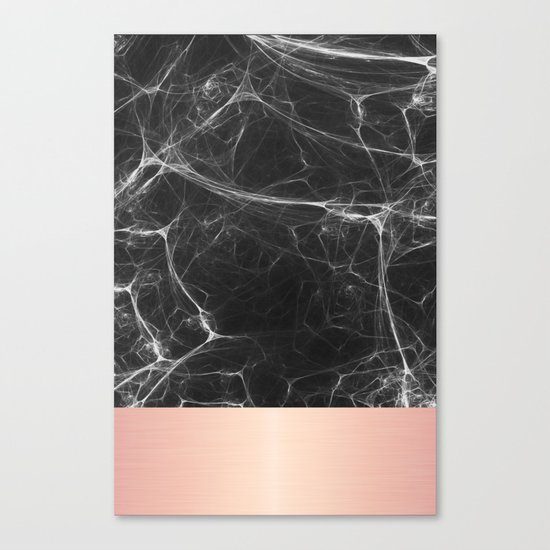 Black Marble And Pink Canvas Print By Cafelab Society6
