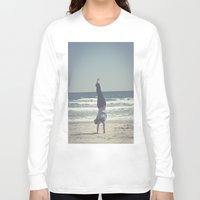 yoga Long Sleeve T-shirts featuring Yoga  by L_Q.