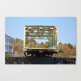 Swing Bridge Opening 2 Canvas Print