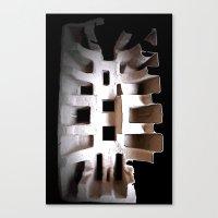 skeleton Canvas Prints featuring Skeleton by Artisimo