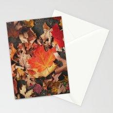 crimson leaves Stationery Cards