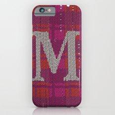 Winter clothes. Letter M. Slim Case iPhone 6s