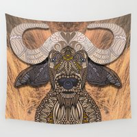 african Wall Tapestries featuring African Buffalo by ArtLovePassion