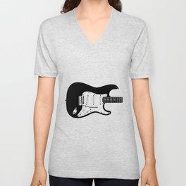 Guitar Drawing Unisex V-Neck