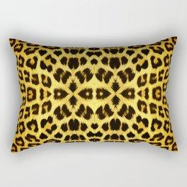Leopard Print - Gold Rectangular Pillow