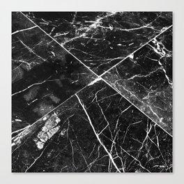 Black Granite Tiles Canvas Print