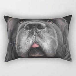 White Whiskers Rectangular Pillow