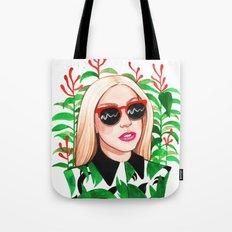 Lady and Photinia Tote Bag