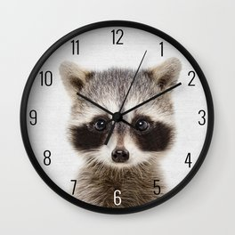 Baby Raccoon  Wall Clock