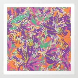 Tropical summer rainforest party Art Print