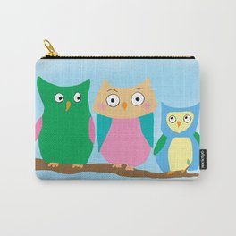 Owl Family Portrait Carry-All Pouch