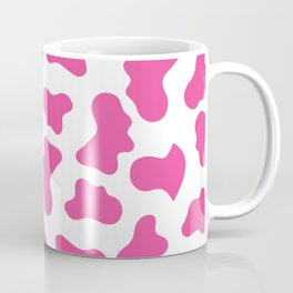 Hot Pink Cow Pattern Coffee Mug