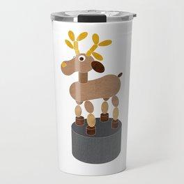 PUSH UP DEER, toy print Travel Mug
