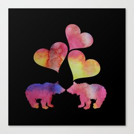 Bear cubs Canvas Print