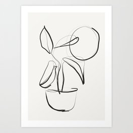 Abstract line art /Plant Art Print