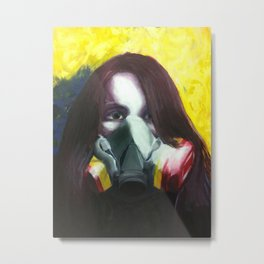 Toxic (Self-portrait) Metal Print
