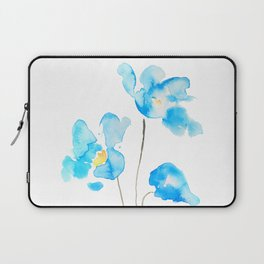 abstract Himalayan poppy flower watercolor Laptop Sleeve