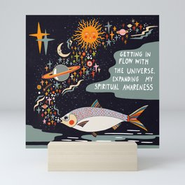 Getting in flow with the Universe Mini Art Print