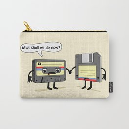 The Obsoletes (Retro Floppy Disk Cassette Tape) Carry-All Pouch