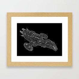 dark serenity Framed Art Print