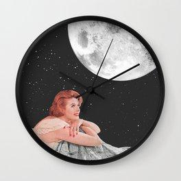 Moon Blanket Wall Clock