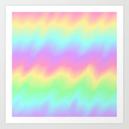 Rainbow Ripples Art Print